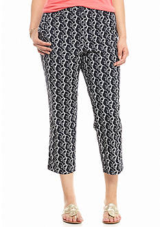 crown & ivy™ Plus Size Elephant Capris