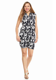 crown & ivy™ Plus Size Safari Stampede Romper