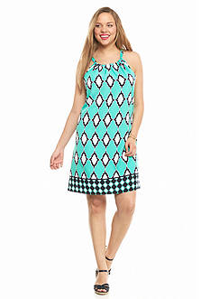 crown & ivy™ Plus Size Tile Twin Halter Dress