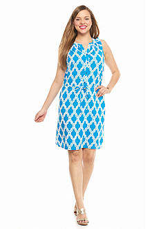 crown & ivy™ Plus Size Marrakesh Medallion Dress