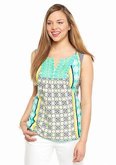 crown & ivy™ Plus Size Crochet Bib Top