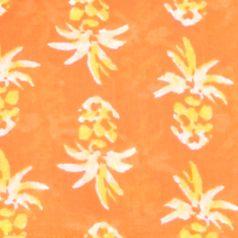 Plus Size Designer Clothes: Shirts & Blouses: Orange/Yellow/White crown & ivy™ beach Plus Size Smock Neck Printed Top