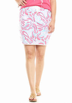 crown & ivy™ beach Plus Size Lobster Print Terry Skort