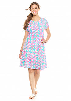 crown & ivy™ beach Plus Size Starfish Swing Dress