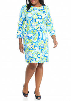crown & ivy beach Plus Size Shift Beach Dress