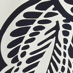 Women's Plus: Crown & Ivy™ Designer: Ivory/Navy crown & ivy™ Plus Size Leaf Print Peasant Top