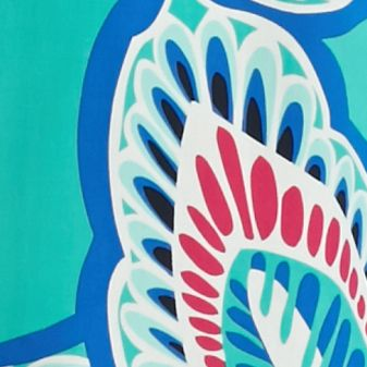 Women's Plus: Crown & Ivy™ Designer: Jade/Blue crown & ivy™ Plus Size Leaf Print Peasant Top