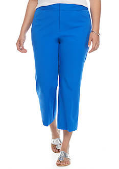 crown & ivy™ Plus Size Wide Leg Bi-Stretch Crop Pant