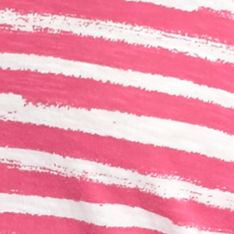 Plus Size Tees: Pink/White crown & ivy™ Plus Size Stripe V-Neckline Tee