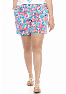 crown & ivy™ Plus Size Woven Link Shorts