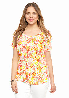 crown & ivy™ Plus Size Citrus Slice Tee