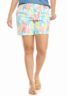 crown & ivy™ Plus Size Under the Sea Shorts
