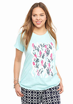crown & ivy™ Plus Size Swimming Seahorse Swing Tee