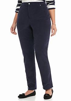 crown & ivy™ Plus Size Skinny Leg Corduroy Pants