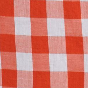Women's Plus: Trends-the Edit Sale: Orange/White crown & ivy™ Plus Size Gingham Button Down Shirt