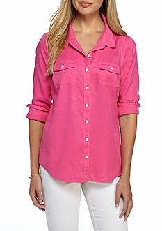 crown & ivy™ beach Colored Chambray Shirt