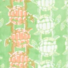 Plus Size Blouses: Green/White/Coral crown & ivy™ beach Smocked Turtle Top