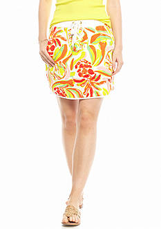 crown & ivy™ beach Printed Terry Skort