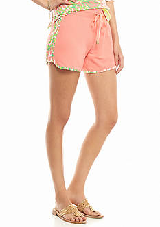 crown & ivy™ beach Printed Binding Knit Short