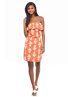 crown & ivy™ beach Pineapple Bandeau Dress