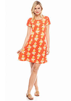 crown & ivy™ beach Large Pineapple Gem Swing Dress
