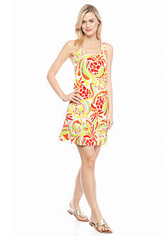 crown & ivy™ beach Watercolor Racer Back Knit Dress