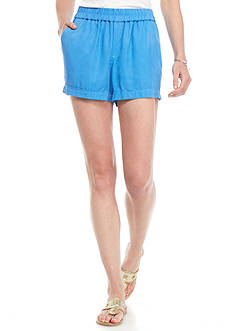 crown & ivy™ beach Cuffed Tencel Shorts