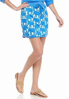 crown & ivy™ beach Elephant Skort