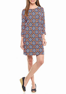 crown & ivy™ beach Printed Knit Dress