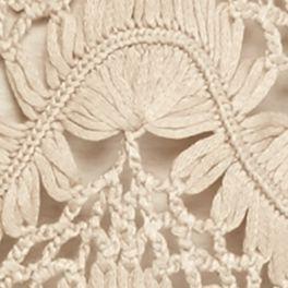 Cardigan Sweaters for Women: Sleek Beige New Directions Crochet Fan Shrug
