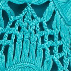Cardigan Sweaters for Women: Lanai Turq New Directions Crochet Fan Shrug