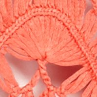 Cardigan Sweaters for Women: Coral New Directions Crochet Fan Shrug