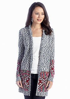 New Directions® Hooded Border Cardigan