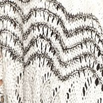 Cardigan Sweaters for Women: Black/White New Directions Cascading Fringe Pointelle Cardigan