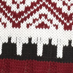 Sweaters for Women: Hooded: Burgundy/ Stone New Directions Shirttail Fringe Trim Hooded Sweater