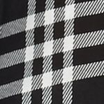 Button Down Shirts for Women: Black / White New Directions Lace Back Plaid Shirt