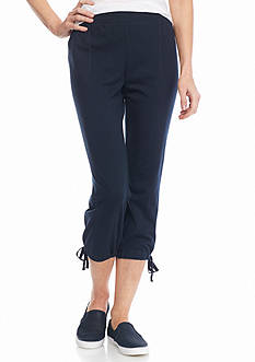 New Directions Weekend Tie Hem Pull-On Capris