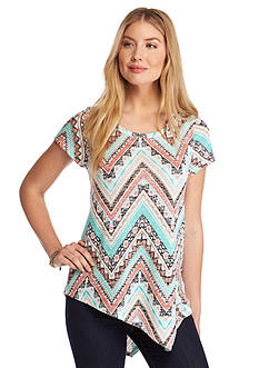 New Directions Weekend Aztec Asymmetrical Top