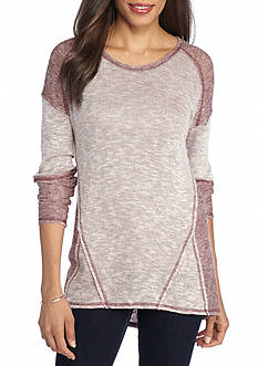 New Directions Weekend High Low Knit Top