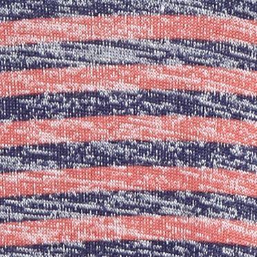 Women: New Directions Weekend Tops: Navy / Rust New Directions Weekend Crochet Trim Stripe Top