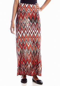 New Directions® Weekend Chevron Maxi Skirt