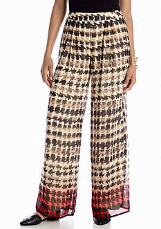 New Directions® Ombre Hounds Tooth Palazzo Pant