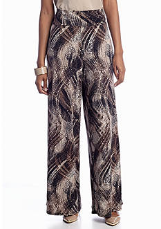 New Directions® Brushed Python Palazzo Pant
