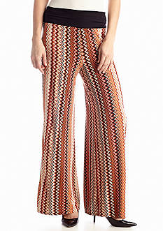 New Directions® Vertical Chevron Printed Palazzo Pant