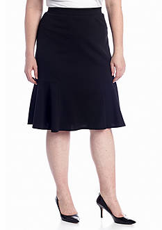 New Directions® Plus Size Flounce Skirt
