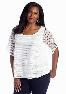 New Directions® Plus Size Crochet Poncho
