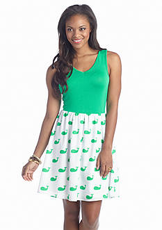 Eric + Lani Whale Printed Dress