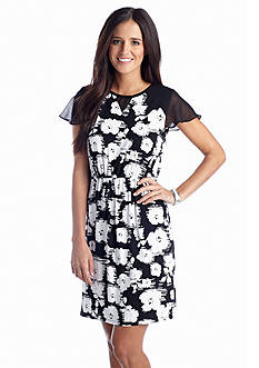 Eric + Lani Floral Knit Dress