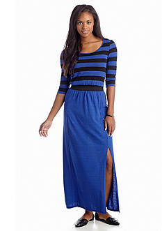 Eric + Lani Stripe Knit Maxi Dress