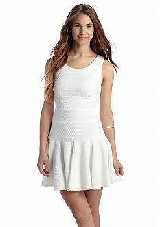 Double Zero Textured Knit Fit and Flare Dress